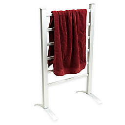 Mind Reader Standing Electric Heated Drying Rack in Silver