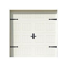 Household Essentials® 6-Piece Premium Lever Carriage House Garage Accents Set in Black