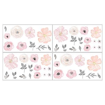 Sweet Jojo Designs Watercolor Floral Wall Decals