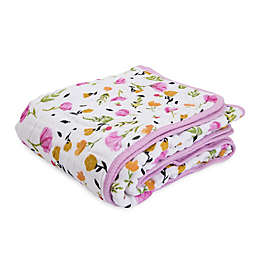Little Unicorn Berry & Bloom Cotton Muslin Quilt in Pink