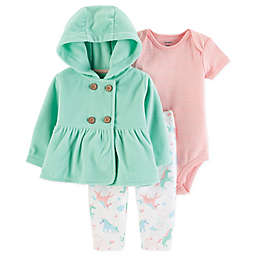 carter's® 3-Piece Unicorn Layette Set in Mint