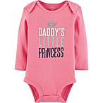 "carter's® Size 12M ""Daddy's Little Princess"" Long Sleeve Bodysuit in Pink"