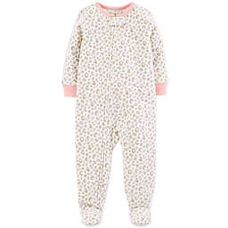carter's® Cheetah Zip-Front Fleece Footie