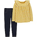 carter's® Size 6M 2-Piece Floral Top and Jegging Set