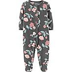 carter's® Size 3M Fleece Floral Footie in Grey