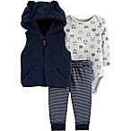 carter's® Newborn 3-Piece Critter Little Vest Set