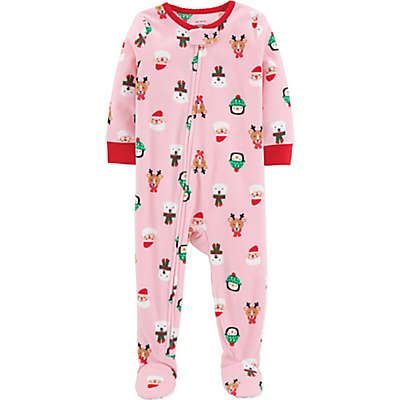carter's® Christmas Fleece Footed Pajama in Pink