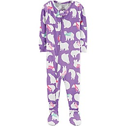 carter's® Polar Bear Footie in Purple