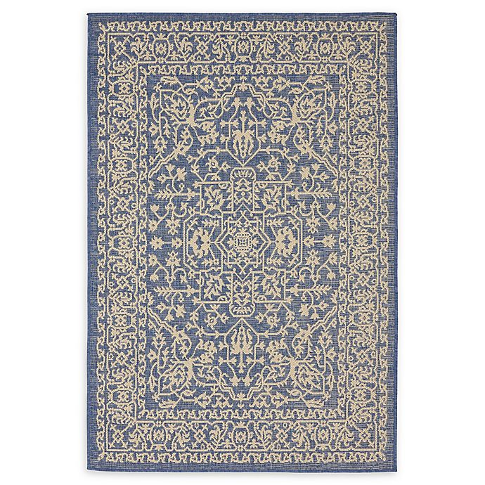 Alternate image 1 for Allover 4' x 6' Indoor/Outdoor Area Rug in Blue
