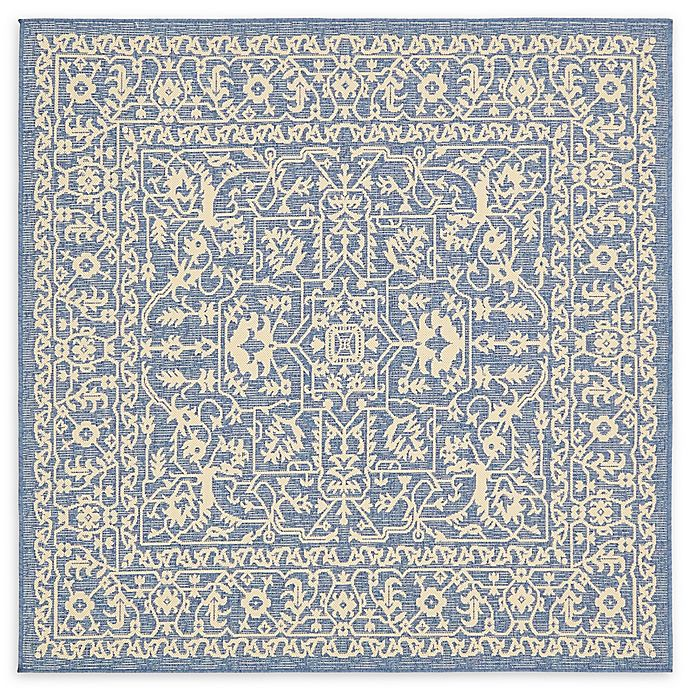 Alternate image 1 for Allover 6' x 6' Indoor/Outdoor Area Rug in Blue
