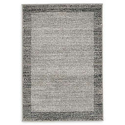 Unique Loom Del Mar 2' x 3' Accent Rug in Light Grey