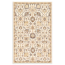 Unique Loom Heritage Lily Area Rug in Ivory
