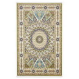 Unique Loom Nain Power-Loomed Area Rug in Green