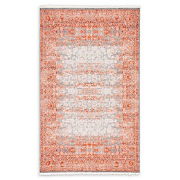 Unique Loom Arcadia Power-Loomed Rug in Terracotta