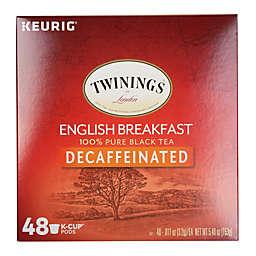 Keurig® K-Cup® Pack 48-Count Twinings of London® Decaf English Breakfast Tea