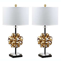 Safavieh Luxe Table Lamps in Gold/Black (Set of 2)