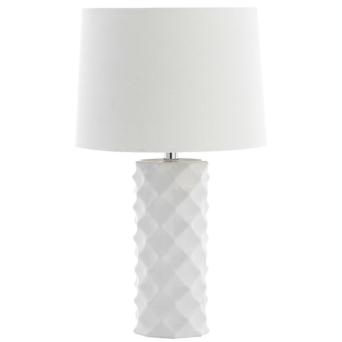 Safavieh Sculpted Table Lamp In White