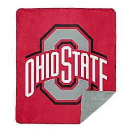Ohio State University Denali Sliver Knit Throw Blanket