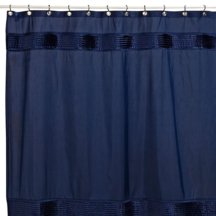 Nicole MillerR Willow 72 Inch X Fabric Shower Curtain In Navy