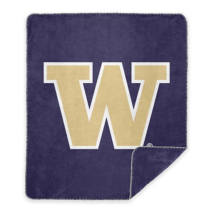 Alternate image 1 for University of Washington Denali Sliver Knit Throw Blanket