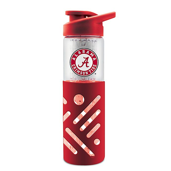 Alternate image 1 for Duck House® NCAA® University of Alabama 23 oz. Glass Travel Bottle with Silicone Sleeve