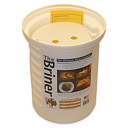 The Briner 22 qt. Ultimate Brine Container in White