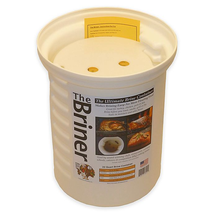 Alternate image 1 for The Briner 22 qt. Ultimate Brine Container in White