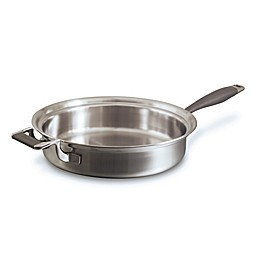 CookCraft™ 10-Inch Tri-Ply Stainless Steel Fry Skillet with Helper Handle