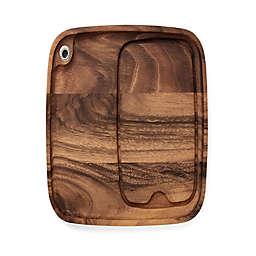 Ironwood™ 11-Inch x 13-Inch Acacia Wood Steak Plate