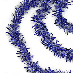 Northlight 50-Foot Garland Tinsel in Blue/White