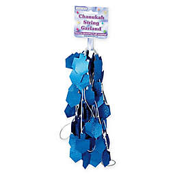 Rite Lite 9-Foot Holgraphic Chanukah Garland in Blue/Silver