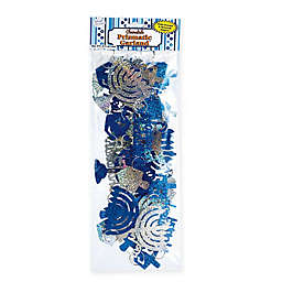 Rite Lite 8-Foot Holgraphic Chanukah Garland in Blue/Silver