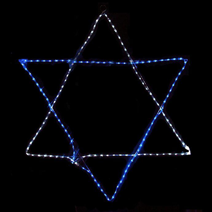 Alternate image 1 for Vickerman 72-Inch Star of David Hanukkah Decoration in Blue/White