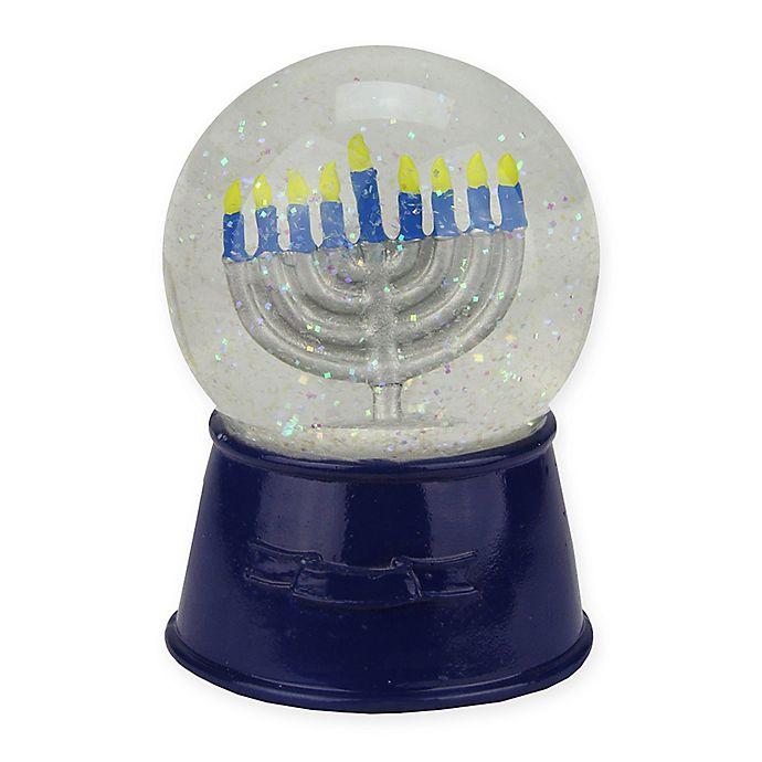 Alternate image 1 for Hanukkah Menorah Snowglobe
