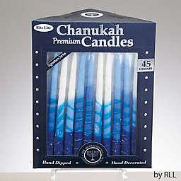 Rite Lite 45-Pack Hanukkah Candles in Blue/White