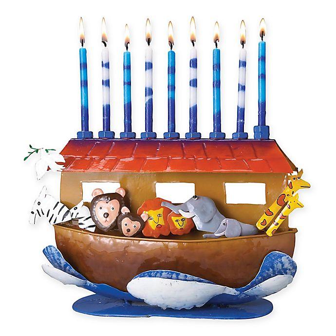 Alternate image 1 for Rite Lite Noah's Ark Hanukkah Menorah