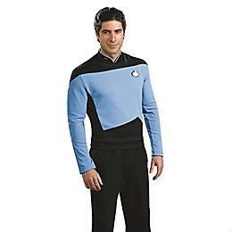 Star Trek Science Uniform Men's Deluxe Halloween Costume Top