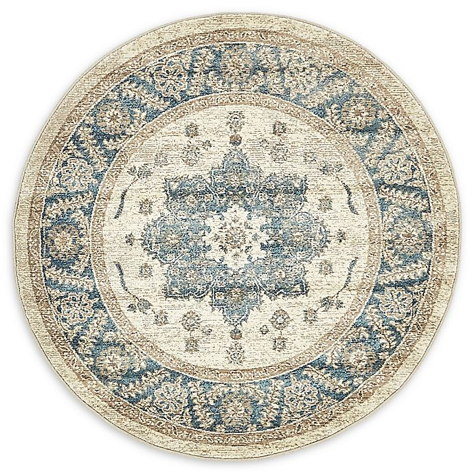 Alternate image 1 for Unique Loom Salzburg 4' Round Power-Loomed Accent Rug in Cream