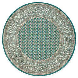 Unique Loom Tribeca 5' Round Power-Loomed Area Rug in Teal