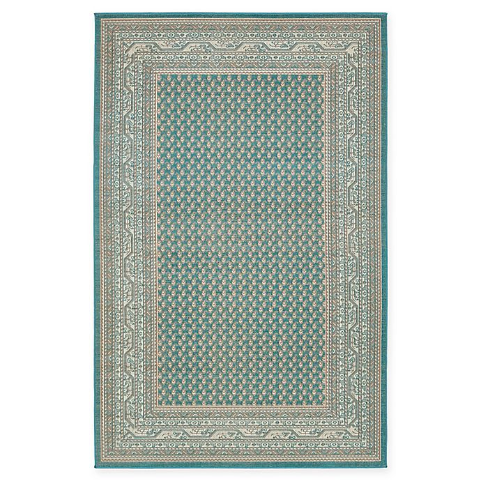 Alternate image 1 for Unique Loom Tribeca 5' x 8' Power-Loomed Area Rug in Teal