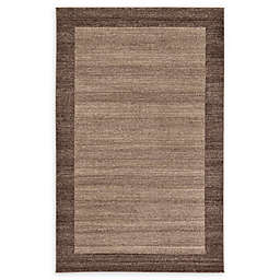 Unique Loom Del Mar Power-Loomed Rug in Light Brown