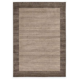 Unique Loom Del Mar 7' x 10' Power-Loomed Area Rug in Light Brown