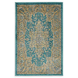 Unique Loom Stockholm 2' x 3' Accent Rug in Teal