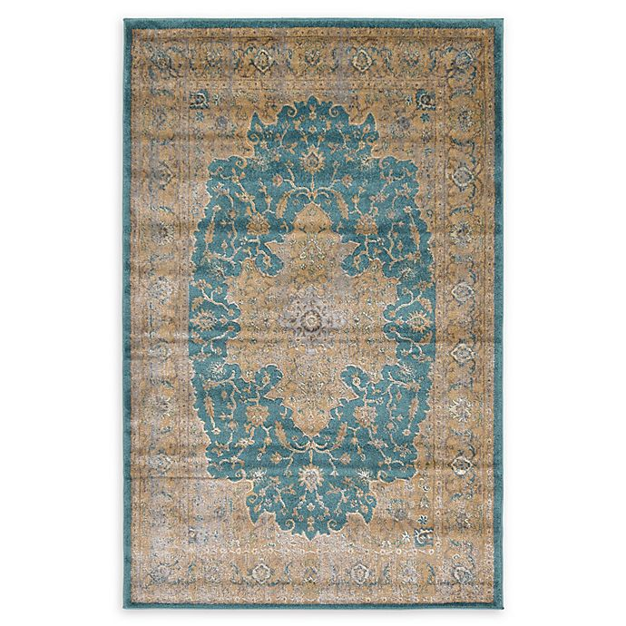 Unique Loom Turkish Stockholm Power-Loomed Rug In Teal