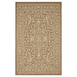 Unique Loom Maria Power-Loomed Indoor/Outdoor Area Rug in Brown