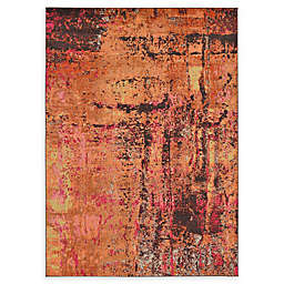 Unique Loom Barcelona 7' x 10' Power-Loomed Area Rug in Orange