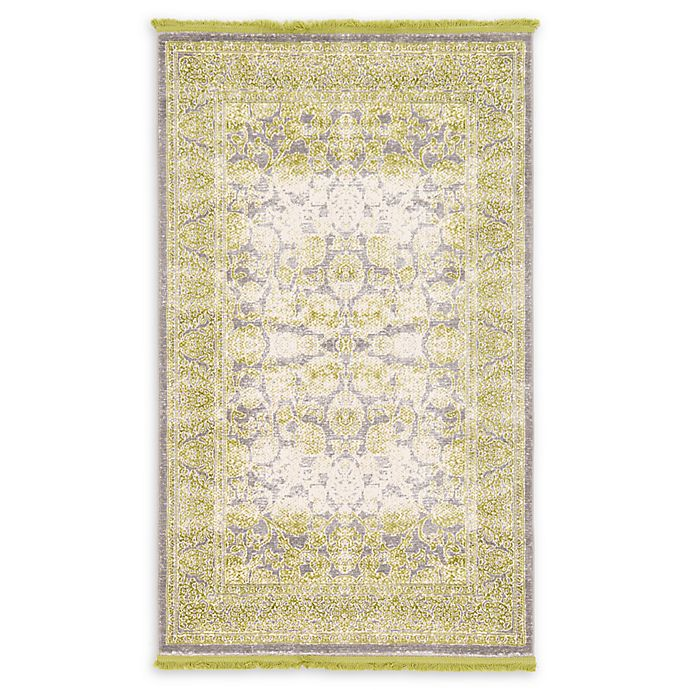 Alternate image 1 for Unique Loom Apollo Arcadia 3' x 5' Power-Loomed Area Rug in Light Green