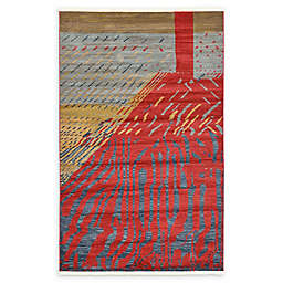 Unique Loom Anastacia Nomad 5' x 8' Power-Loomed Area Rug in Red