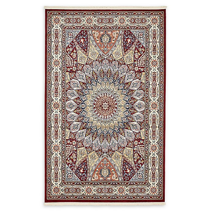 Alternate image 1 for Unique Loom Adams Nain 5' x 8' Power-Loomed Area Rug in Burgundy
