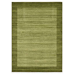Unique Loom Del Mar 7' x 10' Power-Loomed Area Rug in Light Green